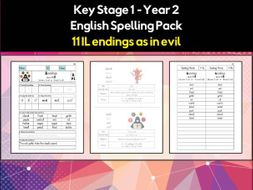 English Spelling And Phonics Pack Il Endings As In Evil əl Or ɪl Teaching Resources