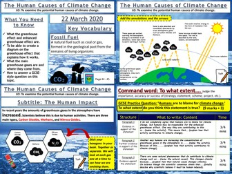Climate Change: The Human Causes of Climate Change