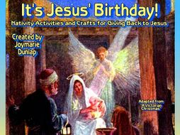 """It's Jesus' Birthday!"" Activity Book"