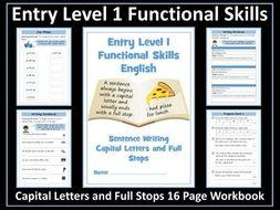 English Functional Skills Entry Level 1 Writing