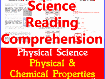 physical science reading comprehension passages questions bundle grade 5 6 by sandra. Black Bedroom Furniture Sets. Home Design Ideas