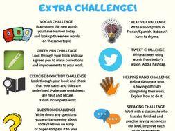 MFL Early Finisher Challenge Sheet