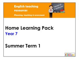 Year 7 English Home Learning Pack - Summer Term