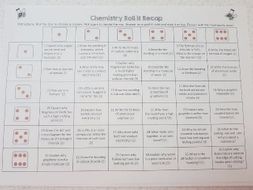 Roll to Recap GCSE 9-1 Chemistry Revision for Topic 5/6/7