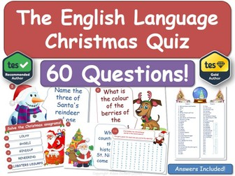 English Language & Literacy Christmas Quiz!