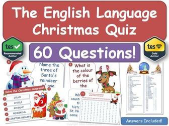 English Language & Literacy Christmas Quiz!