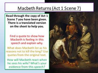 Macbeth Act 1 Scene 7