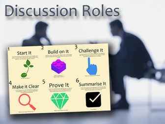 Discussion Roles - Roleplay cards to structure group talk for oracy