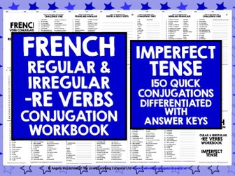FRENCH VERBS: FRENCH -RE VERBS IMPERFECT TENSE