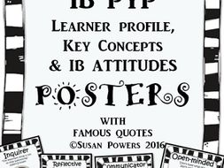 A Complete Set Of Ib Pyp Posters With Authors Quotes By