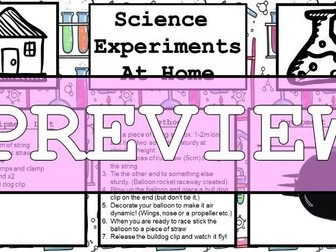 Science Home Experiment - Balloon Rocket
