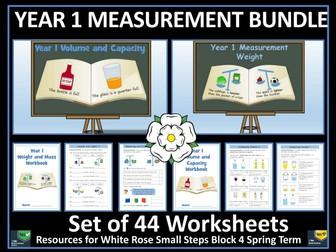 Measurement - Year 1 - Weight and Volume Worksheet Bundle
