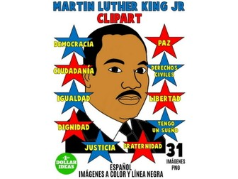 MARTIN LUTHER KING JR CLIPART | SPANISH |MARTIN LUTHER KING ACTIVITIES | MLK