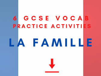 French My Family & Relationships Vocab Practice