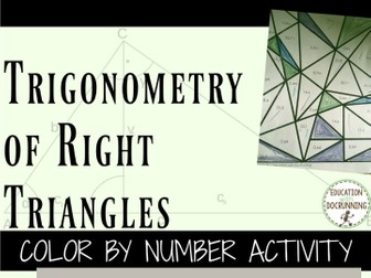 Trigonometry of Right Triangles Color by Number