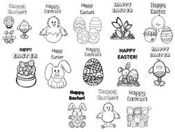 Easter (non religion) themed cards for friends and family - 15 cards
