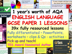 AQA English Language - Paper 1 Section A and B