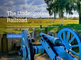 Google Earth Education: The Underground Railroad Secret Codes and Symbolism Writing Lesson #GoogleEa