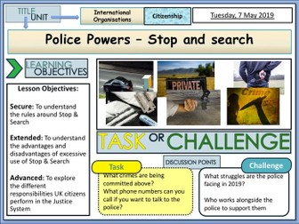 Stop & Search - Police Service