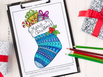 """Free Sample Page from """"Coloring Christmas"""""""