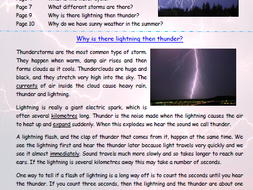Thunder and Lightning Explanation Text Comprehension Activity