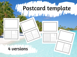 Set of Postcard templates