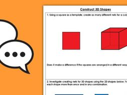 Year 3 Construct 3D Shapes Summer Block 3 Maths Discussion Problems