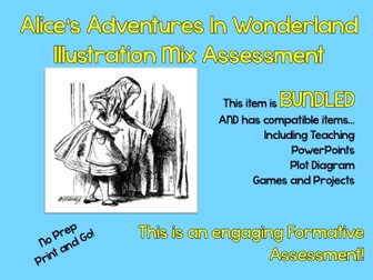 """Alice's Adventure's In Wonderland"" Illustration Mix Formative Assessment"