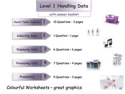 Handling Data Workbook - Worksheet Booklet - Functional Skills Level 1 (with answers)