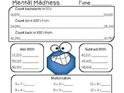 Maths Mental Grade 4- Number Knowledge   Teaching Resources