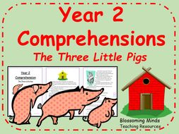 Year 2 comprehension - The Three Little Pigs - traditional tale