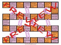 Confusing Verbs Chutes and Ladders Board Game