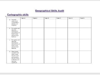 Geography skills and assessment objective audit - get ahead and get prepared!