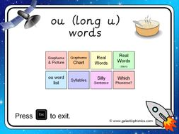 The 'ou' (as in soup) PowerPoint