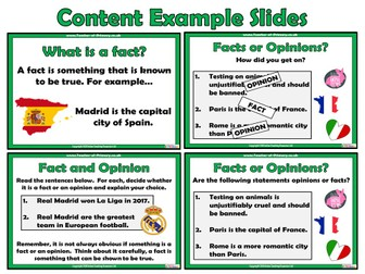 Fact and Opinion - PowerPoint presentation