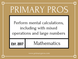 Perform mental calculations, including with mixed operations and large numbers