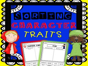 Fairy Tale Character Trait Sorting