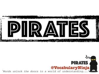 Pirates Topic Vocabulary Pack