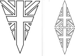 Union jack flag bunting colouring in by nataliebu - Dessin union jack ...