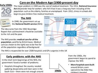 9-1 GCSE British Medicine Through Time - Modern Medicine Revision Pack