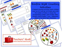 Bonfire Night Counting Activities
