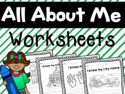 About Myself Personal Information Worksheets For Grade 1 And 2