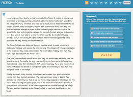 The Narso - Interactive Exercise - Year 6 Reading Comprehension (Fiction)