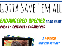 Endangered Species Card Game 1 - Gotta Save 'Em All