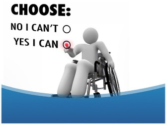 Yes Or No Ppt Template Physical Challenged PPT Template