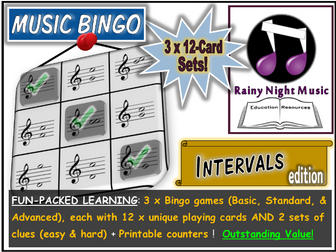 MUSIC BINGO Intervals