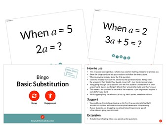 Basic Substitution (Bingo)