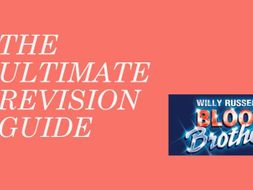 Blood Brothers Revision Guide - TES Resources