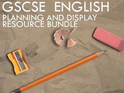 GCSE English - Planning and Display Bundle