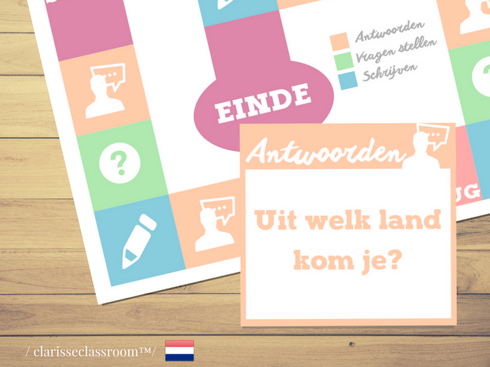 picture relating to Printable Board Game identify Dutch Board Game⎜Ask queries, option and compose ⎜Printable Board Game⎜Learning Dutch
